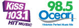 Kiss 103.1 and Ocean 98.5
